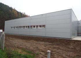 Přístavba průmyslové výrobní haly EXPROVER spol. s r.o. v Černé Hoře.