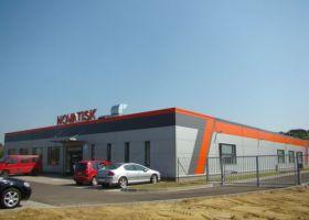 Skladové haly a administrativní budova NOVATISK a.s.