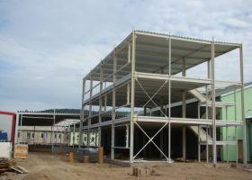skladové montované haly s administrativní budovou D.TRI spol. s r.o. v Kuřimi II