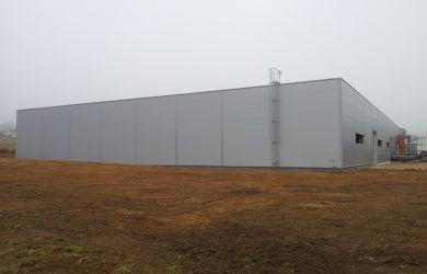 Přístavba skladové haly v Jiřicích u Humpolce