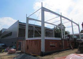 přístavba montované ocelové haly