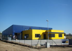 Generální dodávka montované haly pro firmu CARBIDE v Měříně