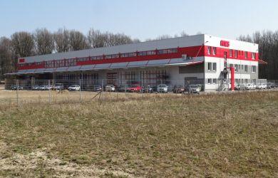 Železobetonová hala v Mošnově u Ostravy