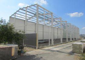 Skladová montovaná ocelová hala ve Zlín - Malenovicích, FLEXFOL TRADE Zlín Malenovice