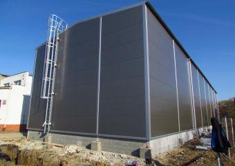 Skladová montovaná ocelová hala ve Zlín - Malenovicích, FLEXFOL TRADE Zlín Malenovice I