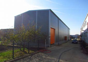 Skladová montovaná ocelová hala ve Zlín - Malenovicích, FLEXFOL TRADE Zlín Malenovice II